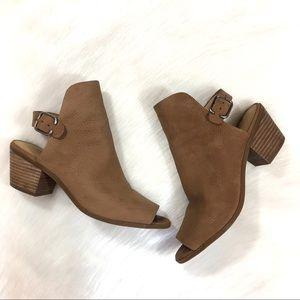 Lucky Brand Block Heel Booties, Size 7.5